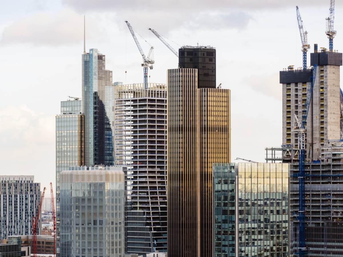 New skyscrapers under construction